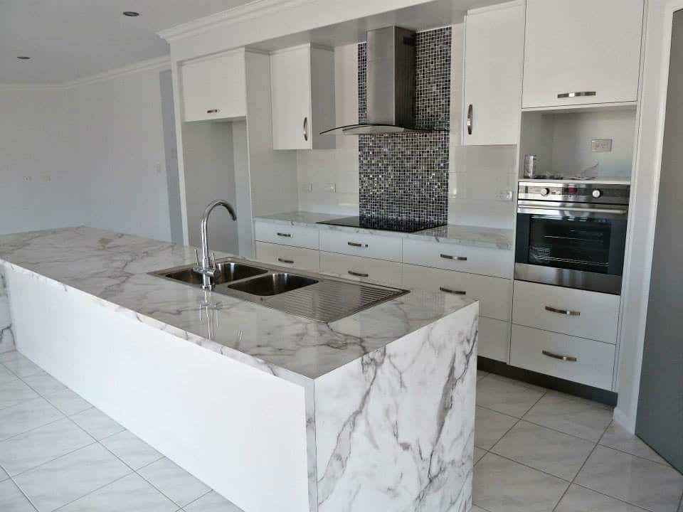 A new kitchen build in a home in Townsville