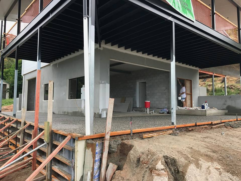 A home build in process in Townsville