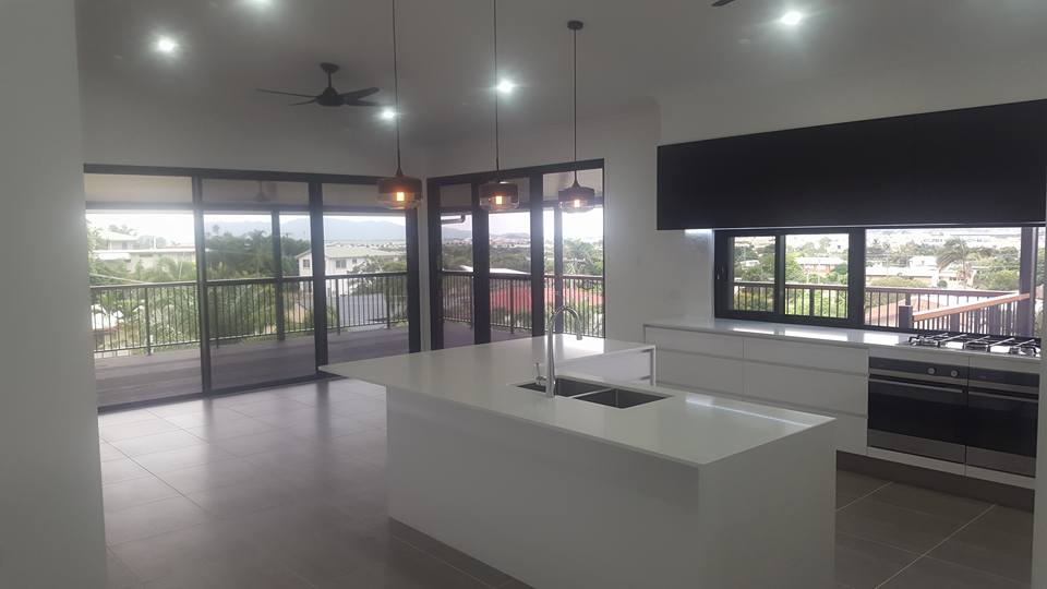 The living area in a new home by our builders in Townsville