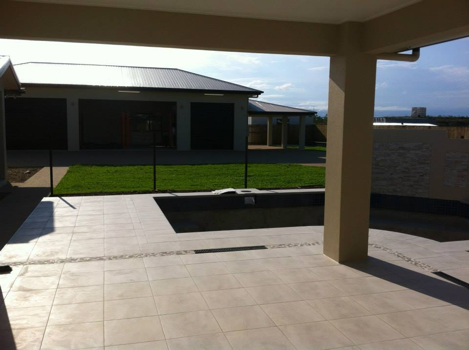 A new patio at a home in Townsville